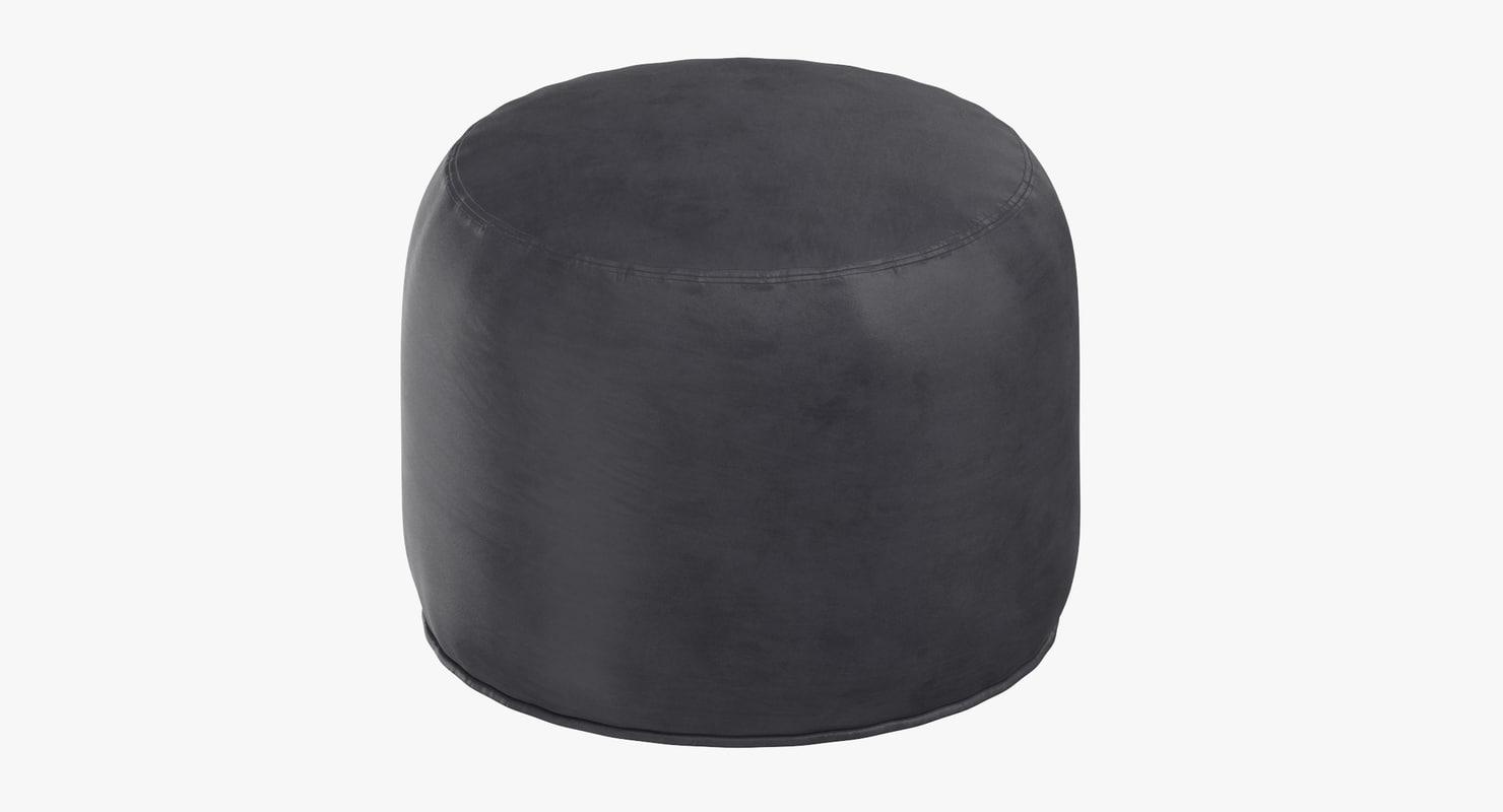 3D scandinavian pouf