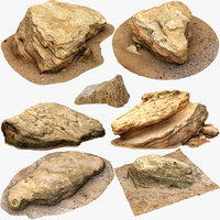 3D model limestones small size