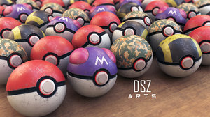 3D pokeballs masterball ultraball