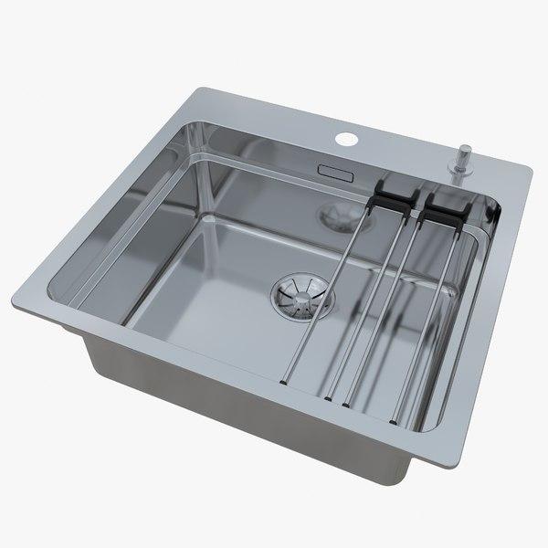 sink blanco etagon 500-ifa 3D model