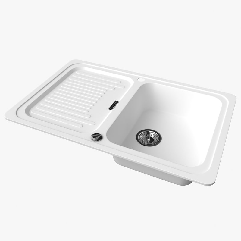 3D sink blanco classic 45