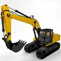excavator construction digger 3D model