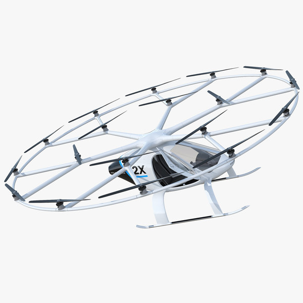 volocopter 2x rigged 3D model