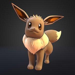 3D model eevee pokemon