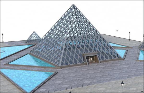 3D pyramid louvre