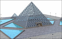 3D pyramid louvre