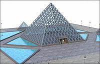 Louvre Pyramid, Paris.