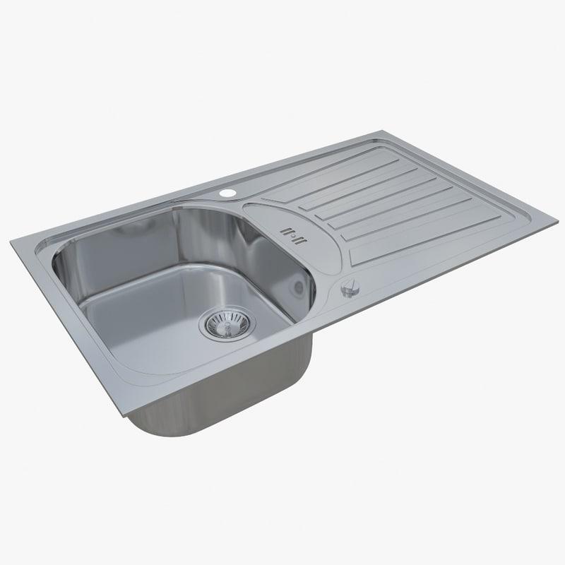 sink blanco 45 s 3D model