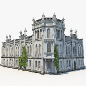 old abandoned residence 3D