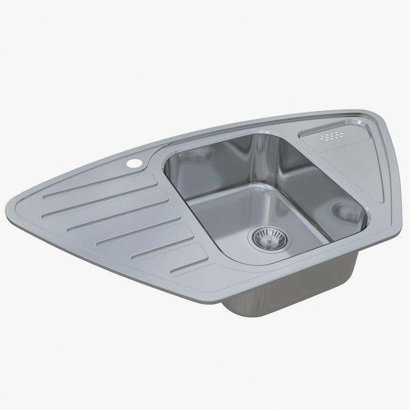 sink blanco lantos 9e 3D model