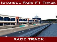 3D istanbul park racing circuit model