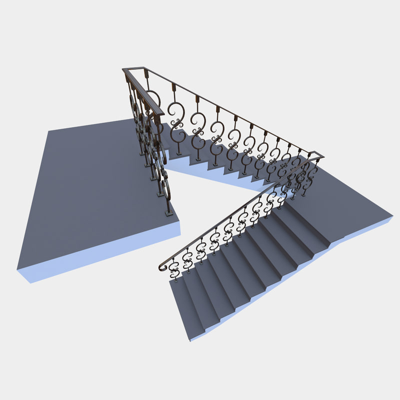 3D stair forged corona model
