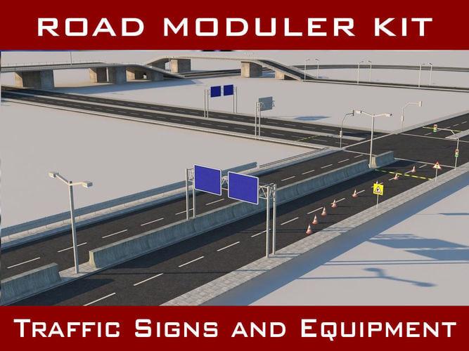 3D road pack modular kit model