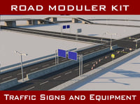 3D road pack modular kit model