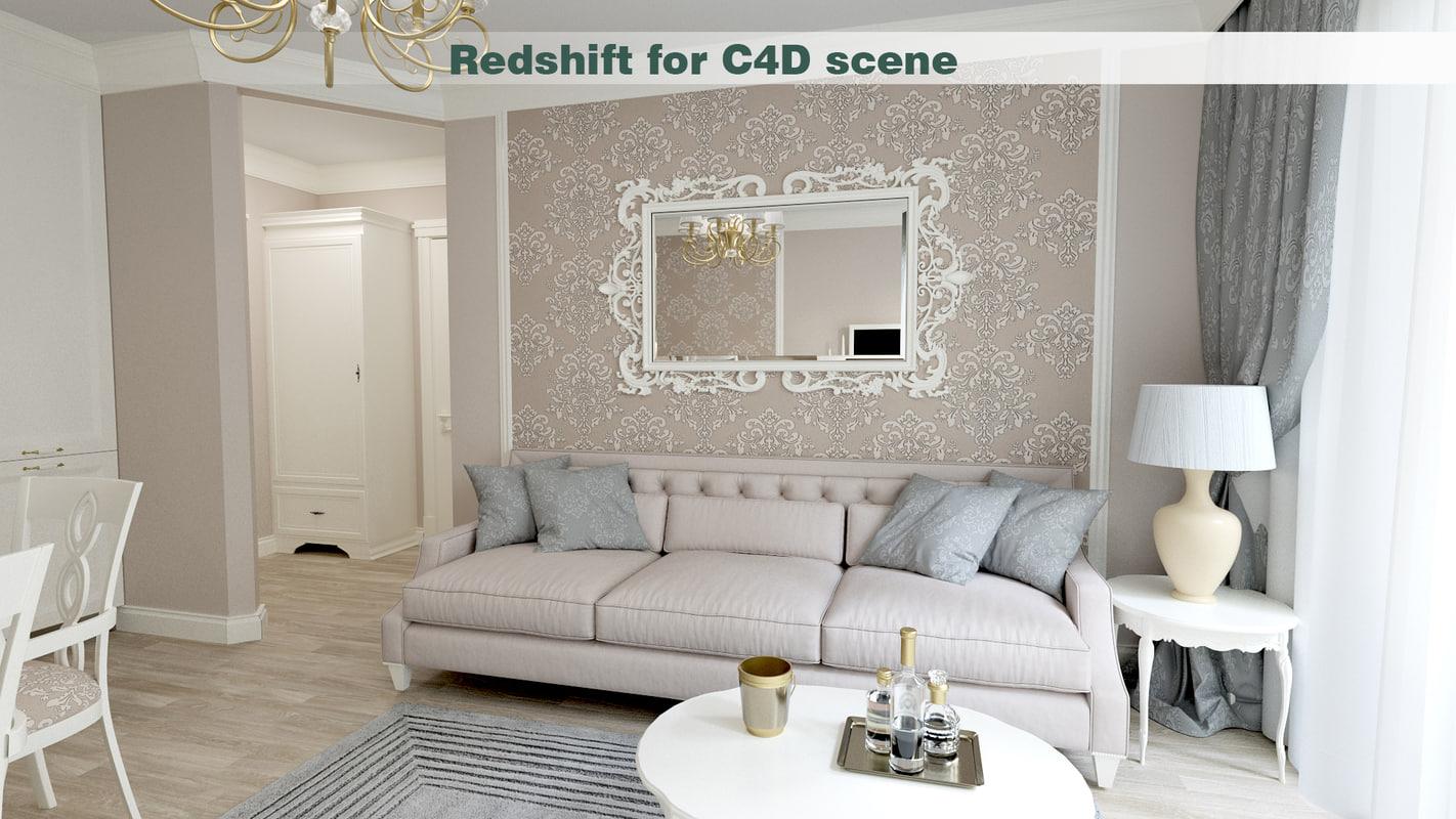 3D model classic interior