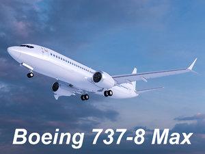 3D boeing 737-8