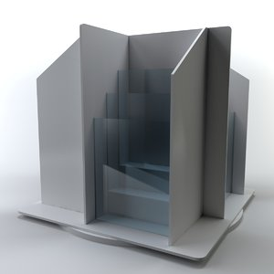brochure folder display stand 3D
