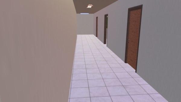3D architecture school internal external model