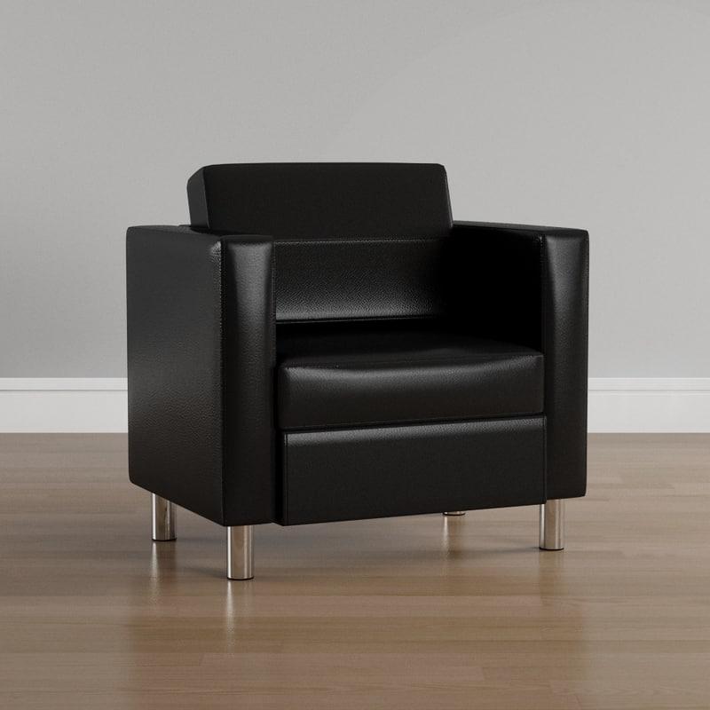 pacific arm chair 3D model