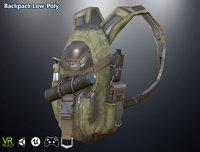 3D model optimized ar backpack