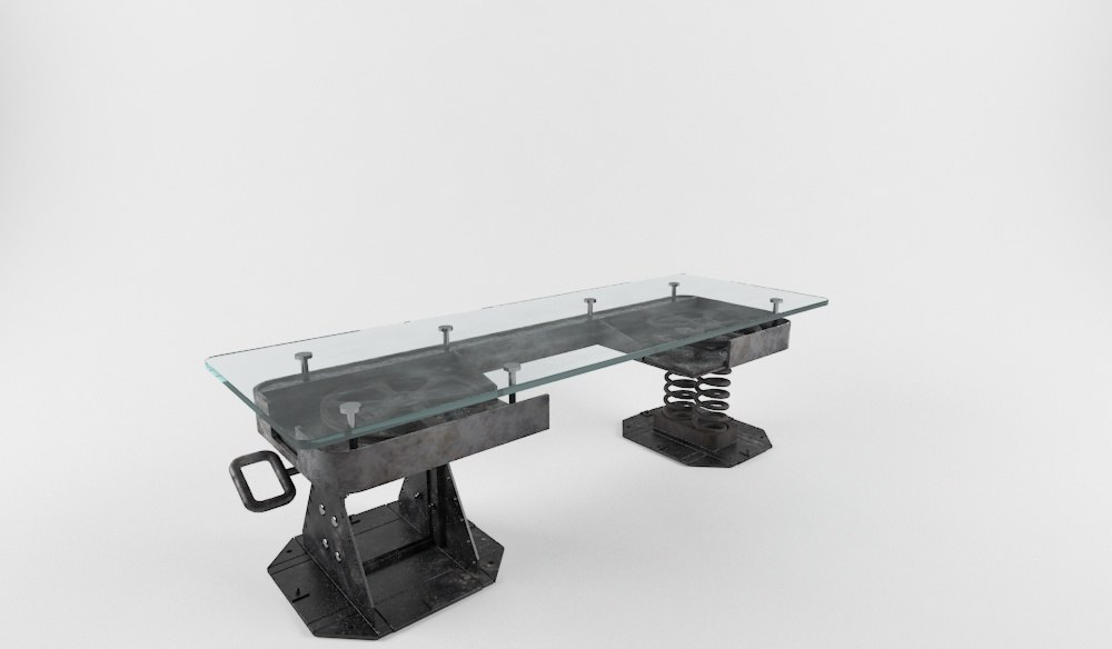 cool industrial coffee tables 3D model