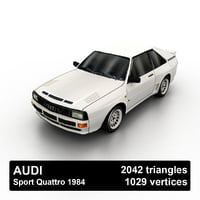 1984 audi sport quattro 3D model
