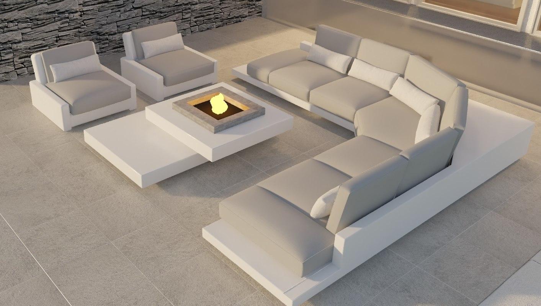 3D outdoor sofa model