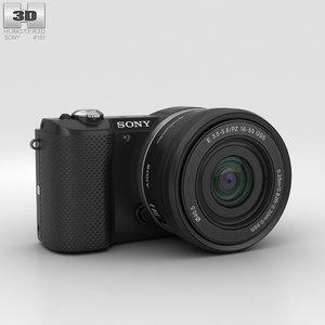 3D sony alpha a5000 model