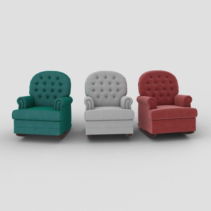 armchair luna chair 3D
