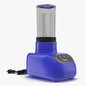 blender blue 3d model