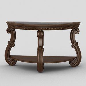 3D antiqued console table