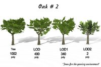 landscape trees 3D model