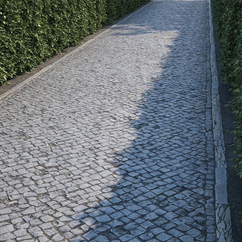 01 green belt path 3D