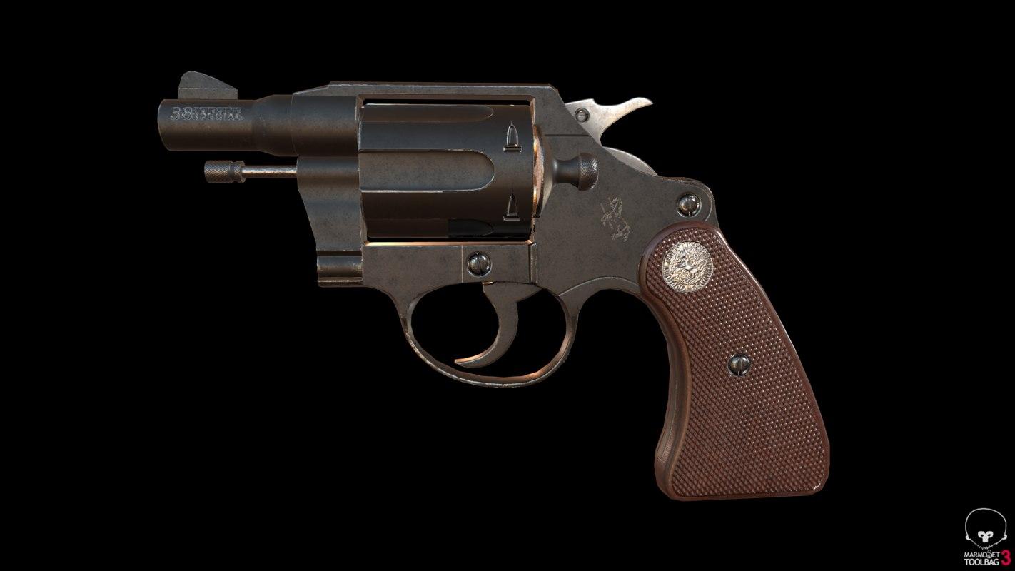 colt detective special revolver 3D