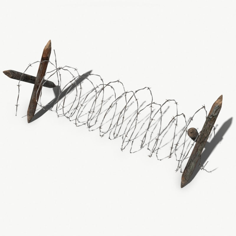 3D model barb wire