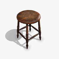 old chair pbr 3D model