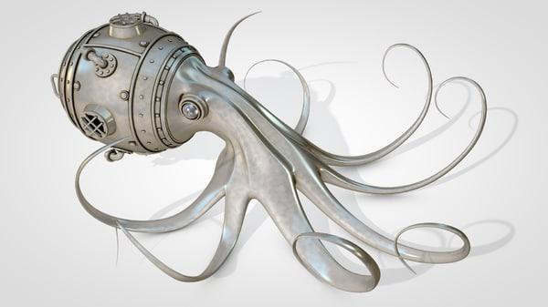steampunk octopus 3D model