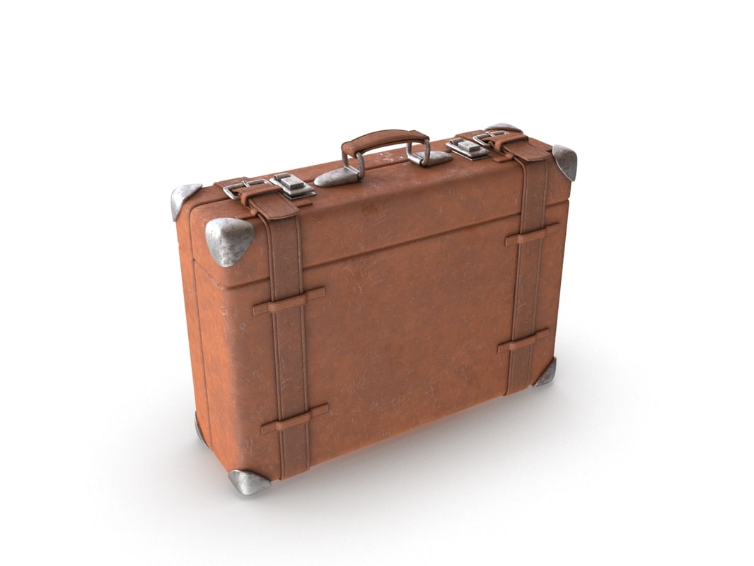 suitcase modeled 3D model