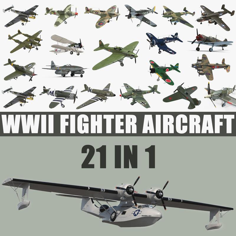 wwii aircraft big 3D