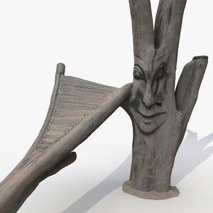 scanned 3 carved wood 3D