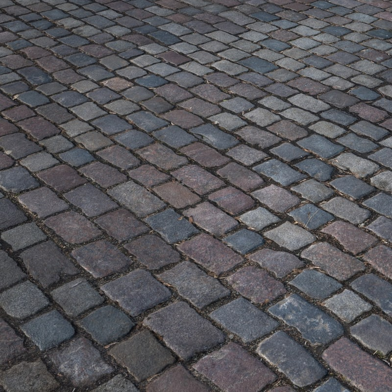 pavement cobblestone 3D