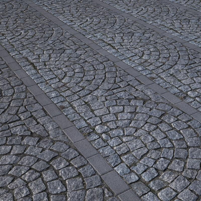 pavement cobblestone model