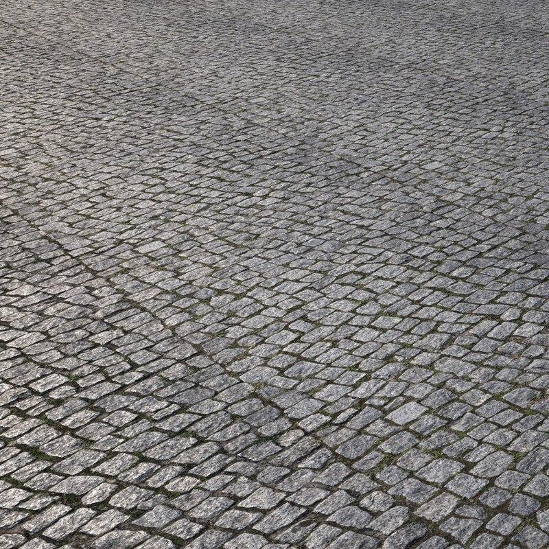 pavement cobblestone 3D model