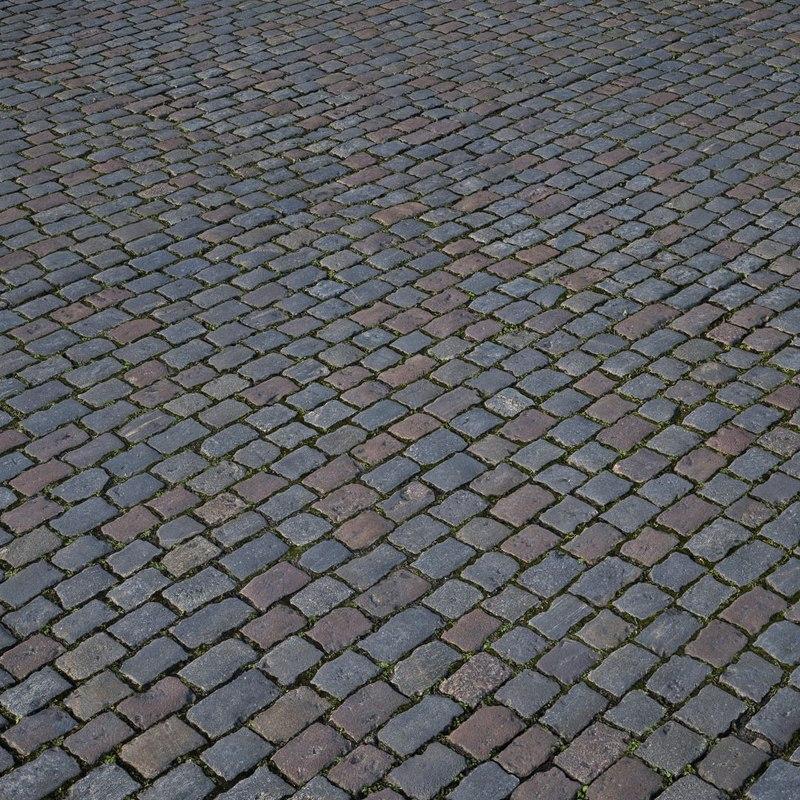 3D pavement cobblestone model