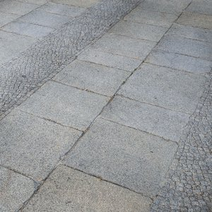 pavement cobblestone scan model