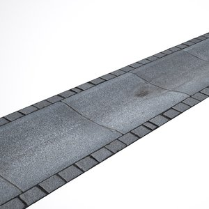 pavement cobblestone scan 3D model