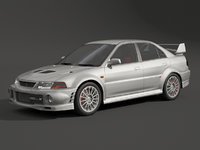 mitsubishi evolution evo 3D model