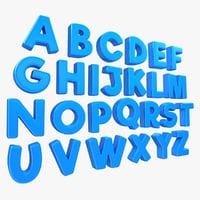 alphabet toon 3D