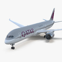 3D model boeing 787-9 dreamliner qatar