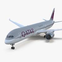 3D model boeing 787-9 dreamliner qatar